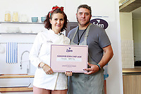 Spanish Chef Samantha Vallejo-Nagera (l) with Ramon Martin, winner of the Eden Chef cooking competition. June 6, 2018. (ALTERPHOTOS/Acero) /NortePhoto.com