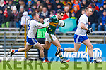 Jack Sherwood  Kerry in action against Dessie Ward. Monaghan during the Allianz Football League Division 1 Round 5 match between Kerry and Monaghan at Fitzgerald Stadium in Killarney, on Sunday.