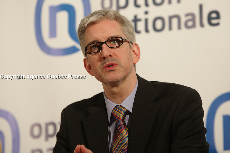 March 2013 File Photo  - Jean-Martin Aussant, leader, Option nationale