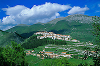 Opi, a medieval hilltop town in Abruzzo National Park, Apennine Mountains, Abruzzo, Italy, AGPix_0104.