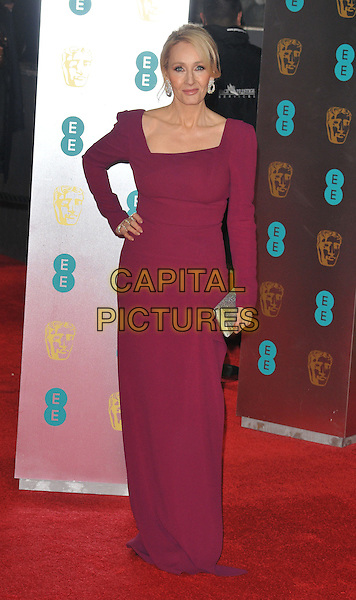 J.K. Rowling at the EE British Academy Film Awards (BAFTAs) 2017, Royal Albert Hall, Kensington Gore, London, England, UK, on Sunday 12 February 2017.<br /> CAP/CAN<br /> &copy;CAN/Capital Pictures