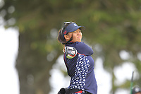 Megan Khang (USA) on the 2nd tee during Day 3 Singles at the Solheim Cup 2019, Gleneagles Golf CLub, Auchterarder, Perthshire, Scotland. 15/09/2019.<br /> Picture Thos Caffrey / Golffile.ie<br /> <br /> All photo usage must carry mandatory copyright credit (© Golffile | Thos Caffrey)