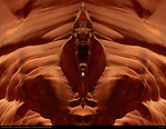 Breaking the Sound Barrier, Fractal Composite, Upper Antelope Canyon, Tse-Bighanilini, Slot Canyon, Lake Powell Navajo Tribal Park, Page, Arizona