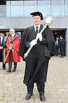 23/10/2015  Pictured at the recent Mary Immaculate College conferring ceremonies was Mace Bearer John O' Neill. 625 students from 20 counties and 3 continents were conferred with academic awards across the College&rsquo;s 27 programmes including the College&rsquo;s 100th PhD award.<br /> Pic: Gareth Williams / Press 22