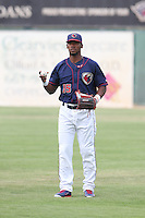 Teoscar Hernandez #15 of the Lancaster JetHawks during a game against the Lake Elsinore Storm at The Hanger on August 2, 2014 in Lancaster, California. Lake Elsinore defeated Lancaster, 5-1. (Larry Goren/Four Seam Images)