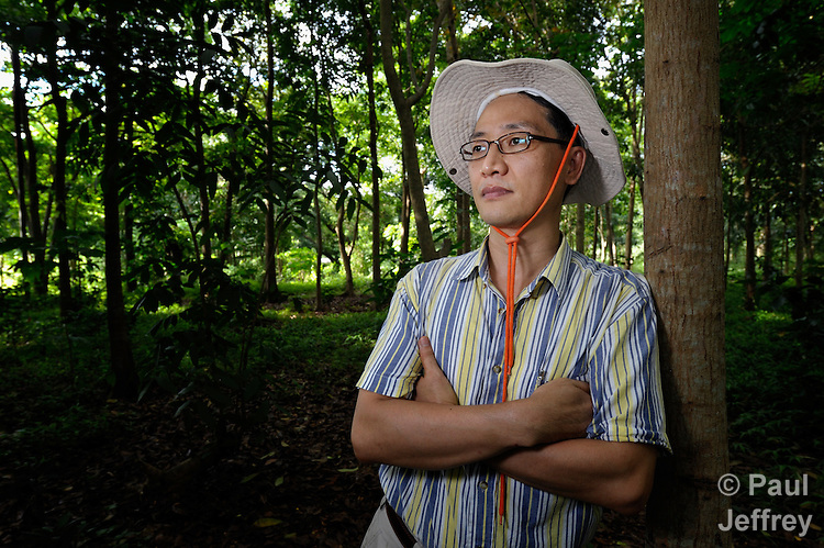 The Rev. Jae Hyoung Choi is a United Methodist missionary serving in the Philippines, where he teaches at Union Theological Seminary in Cavite. Born in Korea, Choi's work with the seminary's Center for Geocentric Ministries focuses on the interrelationship between land, justice and ecology. Here he observes a forest that's part of a farm belonging to the seminary.