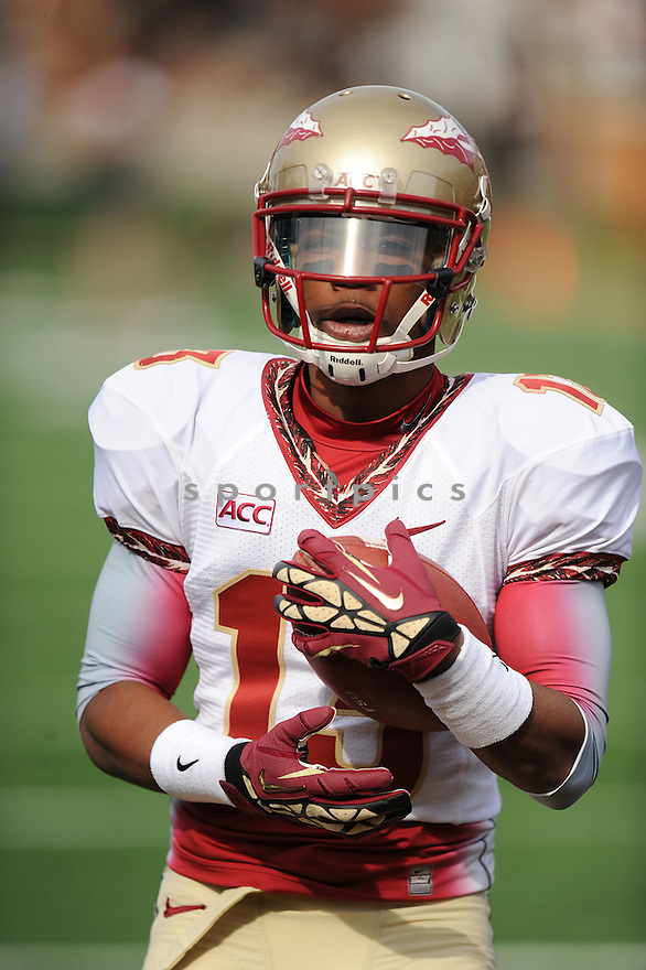 Florida State Seminoles Jalen Ramsey (13) during a game against the Wake Forest Demon Deacons on November 9, 2013 at BB&T Field in Winston-Salem, NC. Florida State beat Wake Forest 59-3.