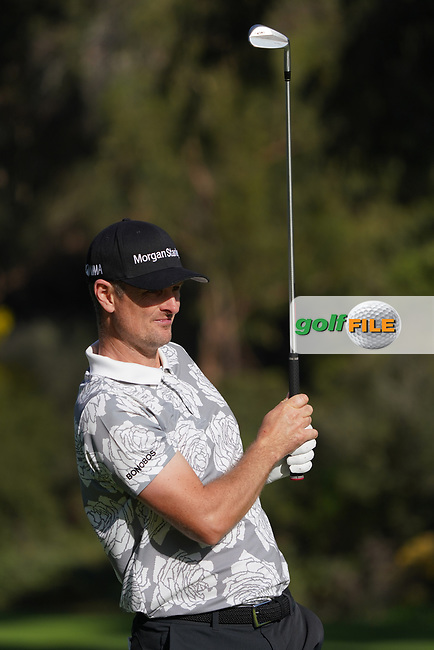 Justin Rose (ENG) in action during the first round of The Genesis Invitational, Riviera Country Club, Pacific Palisades, Los Angeles, USA. 12/02/2020<br /> Picture: Golffile | Phil Inglis<br /> <br /> <br /> All photo usage must carry mandatory copyright credit (© Golffile | Phil Inglis)