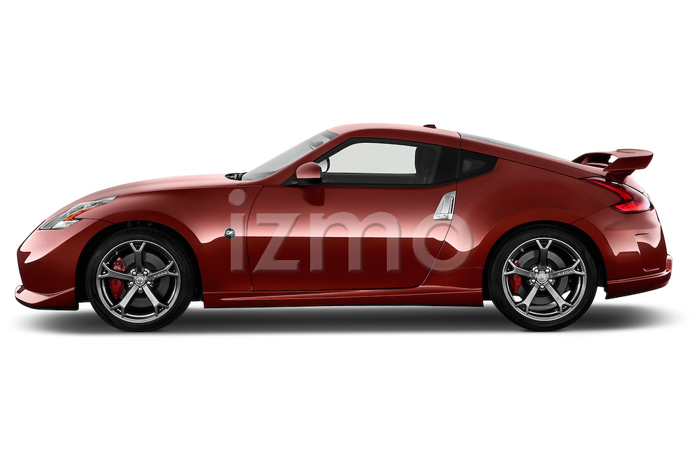 Driver side profile view of a .2013 Nissan 370Z Nismo Coupe