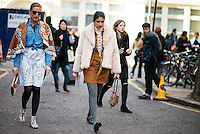 Preetma Singh attends Day 2 of London Fashion Week on Feb 21, 2015 (Photo by Hunter Abrams/Guest of a Guest)