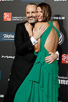 Spanish model Laura Sanchez and singer Miguel Bose during Barcelona 5th AIDS Ceremony. November 24,2014.(ALTERPHOTOS/Acero) /NortePhoto<br />