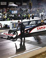 Jul 21, 2017; Morrison, CO, USA; NHRA top fuel driver Steve Torrence during qualifying for the Mile High Nationals at Bandimere Speedway. Mandatory Credit: Mark J. Rebilas-USA TODAY Sports