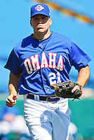 Scott Thorman May 5th, 2010; Oklahoma CIty Redhawks vs Omaha Royals at historic Rosenblatt Stadium in Omaha Nebraska.  Photo by: William Purnell/Four Seam Images