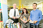 Tommy O'Connor, County Librarian, Martina Daly and Cal Sherin from Kerry Library Launching the new Sierra Library Management system which is already available in thirteen Libraries throughout the Country.