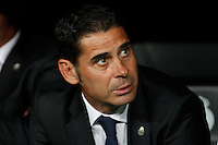 Fernando Hierro of Real Madrid during the Champions League group B soccer match between Real Madrid and FC Basel 1893 at Santiago Bernabeu Stadium in Madrid, Spain. September 16, 2014. (ALTERPHOTOS/Caro Marin) /NortePhoto.com