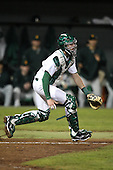 February 20, 2010:  Catcher Nick Rickles (9) of the Stetson Hatters during the teams opening series at Melching Field at Conrad Park in DeLand, FL.  Photo By Mike Janes/Four Seam Images
