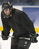 Drew Stafford - The University of North Dakota Fighting Sioux practice on Wednesday, April 5, 2006, at the Bradley Center in Milwaukee, Wisconsin prior to taking on Boston College in the 2006 Frozen Four Semi-Final the following day.