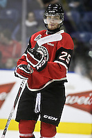 QMJHL (LHJMQ) hockey profile photo on Quebec Remparts Mikhail Grigorenko October 6, 2012 at the Colisee Pepsi in Quebec city.