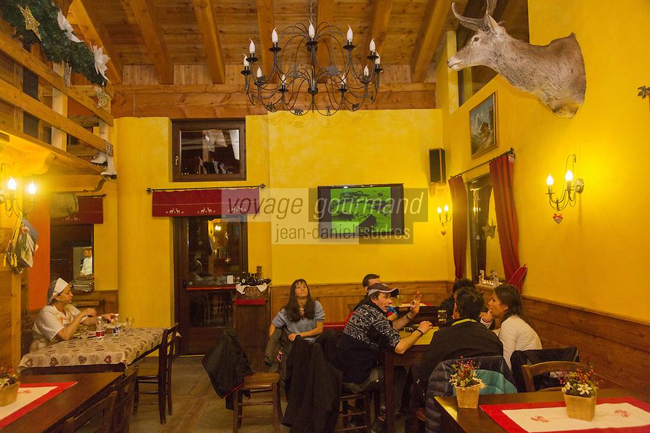 Italie, Val d'Aoste, Breuil-Cervinia : Restaurant: Metzelet// Italy, Aosta Valley, Breuil-Cervinia