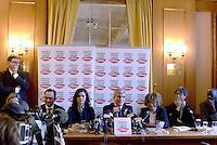 Roma, 7 Gennaio 2013.Sinistra ecologia e Libertà presenta i capilista per le elezioni politiche..Laura Boldrini , portavoce dell'alto commissario ONU per i rifugiati con Nichi Vendola presidente di Sel e della regione Puglia.
