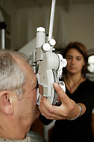 2005 file photo- model released - Eyes examination by an optometrist