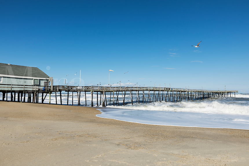 Avalon Fishing Pier, Kill Devil Hills, Outer Banks, North Carolina, USA