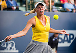 Caroline Wozniacki (DEN) during her Round of 16 match against Varvara Lepchenko (USA) at the Bank of the West Classic in Stanford, CA on August 6, 2015.