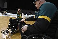 Ben Fawcett (AUS)  vs Ireland<br /> Australian Wheelchair Rugby Team<br /> 2018 IWRF WheelChair Rugby <br /> World Championship / Day 4<br /> Sydney  NSW Australia<br /> Wednesday 8th August 2018<br /> © Sport the library / Jeff Crow / APC