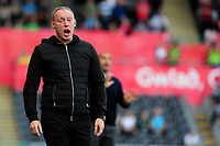 Steve Cooper Head Coach of Swansea City shouts instructions to his team from the dug-out during the Sky Bet Championship match between Swansea City and Nottingham Forest at the Liberty Stadium in Swansea, Wales, UK. Saturday 14 September 2019