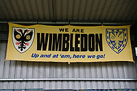 Wimbledon flags ahead of AFC Wimbledon vs Millwall, Emirates FA Cup Football at the Cherry Red Records Stadium on 16th February 2019