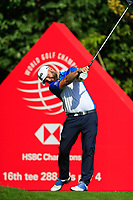 Andy Sullivan (ENG) on the 16th tee during the 3rd round at the WGC HSBC Champions 2018, Sheshan Golf CLub, Shanghai, China. 27/10/2018.<br /> Picture Fran Caffrey / Golffile.ie<br /> <br /> All photo usage must carry mandatory copyright credit (&copy; Golffile | Fran Caffrey)