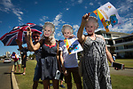 People in Queen Elizabeth II masks cheering as a Batonbearer carries the Baton as the Queen's Baton Relay visited South Perth. From 25 January to 2 March 2018, the Queen's Baton will visit every other state and territory before Queensland. As the Queen's Baton Relay travels the length and breadth of Australia, it will not just pass through, but spend quality time in each community it visits, calling into hundreds of local schools and community celebrations in every state and territory. The Gold Coast 2018 Commonwealth Games (GC2018) Queen's Baton Relay is the longest and most accessible in history, travelling through the Commonwealth for 388 days and 230,000 kilometres. After spending 100 days being carried by approximately 3,800 batonbearers in Australia, the Queen's Baton journey will finish at the GC2018 Opening Ceremony on the Gold Coast on 4 April 2018.