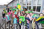 Pictured are Scoil Eoin Balloonagh pupils at their St. Patricks Parade on Friday.
