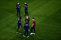 29th July 2020; Bankwest Stadium, Parramatta, New South Wales, Australia; A League Football, Melbourne Victory versus Brisbane Roar; Melbourne Victory players inspect the pitch after arrival at the ground