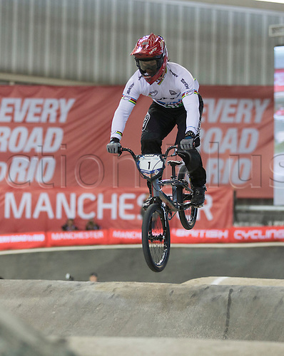 19.04.2015.  Manchester, England. BMX Supercross Day Two.
