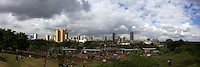 Panoramic image composed of 5 original images taken above Uhuru park in Nairobi, Kenya.