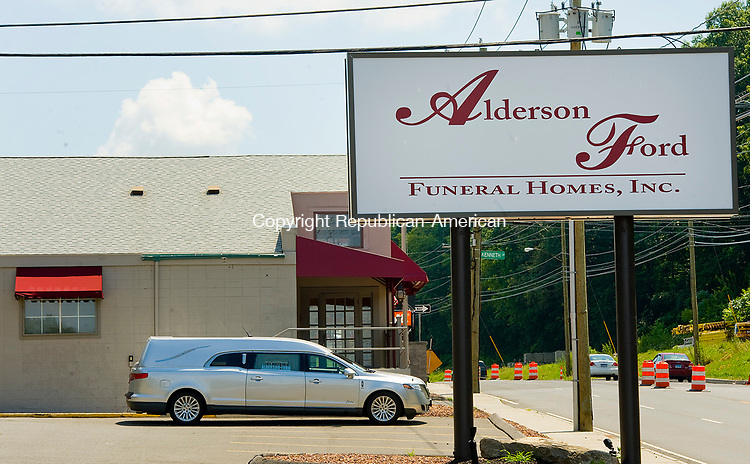 WATERBURY, CT-0731117JS03-- Alderson Ford Funeral Home, inc, has moved from their location on Holmes Avenue to a new location in for former Carmen Anthony restaurant on Chase Avenue in Waterbury. According to Board Chairman, John Ford, the new location gives them more space for their growing business. <br />  Jim Shannon Republican-American