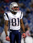 18 November 2007: New England Patriots wide receiver Randy Moss warms up prior to a game against the Buffalo Bills at Ralph Wilson Stadium in Orchard Park, NY. The Patriots defeated the Bills 56-10 in their second meeting of the season...Mandatory Photo Credit: Ed Wolfstein Photo