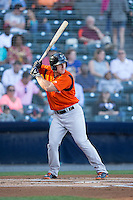 David Freitas (46) of the Bowie Baysox at bat against the Richmond Flying Squirrels at The Diamond on May 23, 2015 in Richmond, Virginia.  The Baysox defeated the Flying Squirrels 3-2.  (Brian Westerholt/Four Seam Images)