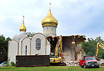 WATERBURY  CT. - 22 July 2019-072219SV04-<br />The Holy Virgin Mary Orthodox Church is demolished on North Main Street in Waterbury Monday.<br />Steven Valenti Republican-American
