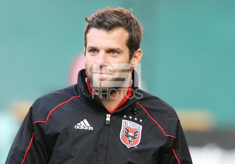 Ben Olsen assistant coach of D.C. United during an MLS match against the Chicago Fire on April 17 2010, at RFK Stadium in Washington D.C. Fire won 2-0.