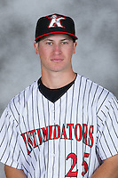 Kannapolis Intimidators pitcher Alex Katz (25) poses for a photo at Kannapolis Intimidators Stadium on April 5, 2016 in Kannapolis, North Carolina.  (Brian Westerholt/Four Seam Images)