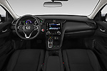 Stock photo of straight dashboard view of a 2019 Honda Insight EX 4 Door Sedan