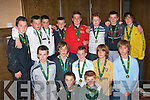 5563-5567.---------.Champion's.----------.St Brendan's Park Soccer Club,Div 1 school boy league winner's who were presented with their medals last Saturday night in the Grand hotel at the Annual award's were(front)Tidhg Connolly and Thomas Dwyre(2nd Row)L-R Shane Benner,Jessy Stafford Lacey,Killian Brosnan,Murrough Connelly and Sean Fitzmaurice,(back)L-R James Duggan,Mike O'Donnell,Colin Griffin,Gary Nolan,Arron Dunne,Owen Lyons,Chris Leen and Sean Dukes.