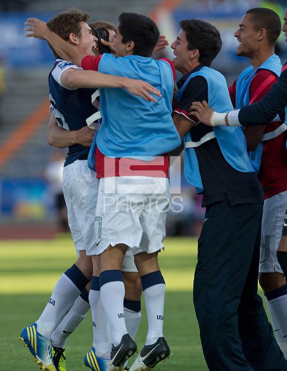 PUEBLA, Mexico - Feb. 26, 2013: The U.S. Under-20 Men's National Team in the 2013 CONCACAF U-20 Championship, defeating Canada 4-2 in the quarterfinals at Estadio Olímpico Universitario Lobos BUAP.