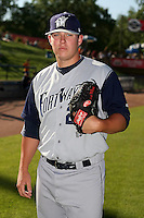 June 15 2008:  Pitcher Jeremy McBryde of the Fort Wayne Wizards, Class-A affiliate of the San Diego Padres, during a game at Fifth Third Field in Comstock Park, MI.  Photo by:  Mike Janes/Four Seam Images