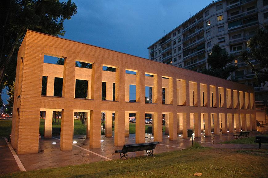 L'opera di Per Kirkeby in Largo Orbassano. The Kirkeby's work in a square of Torino.