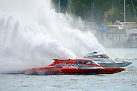 "Jimmy King, GP-10 ""The Charger"" and Tom Pakradooni, GP-88, ""Rolling Thunder""(Grand Prix Hydroplane(s)"