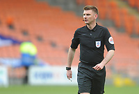 Referee Ollie Yates<br /> <br /> Photographer Kevin Barnes/CameraSport<br /> <br /> The EFL Sky Bet League One - Blackpool v Gillingham - Saturday 4th May 2019 - Bloomfield Road - Blackpool<br /> <br /> World Copyright © 2019 CameraSport. All rights reserved. 43 Linden Ave. Countesthorpe. Leicester. England. LE8 5PG - Tel: +44 (0) 116 277 4147 - admin@camerasport.com - www.camerasport.com