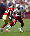 Renaldo Hill during the Cardinals v. 49ers game on October 10, 2004...49ers win 31-28..Rob Holt / SportPics